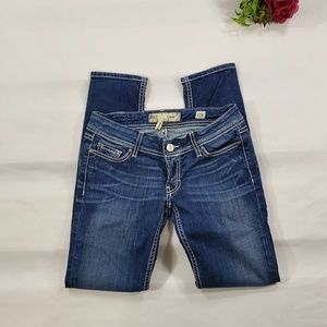BKE Stella Skinny Medium Wash Embellished Jeans